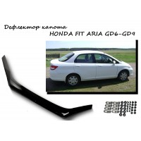 Дефлектор капота HONDA FIT ARIA GD6-GD9 2002-2009г